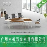 Mesa de reuniones moderna de los muebles de oficinas de la pierna de acero del precio de fábrica
