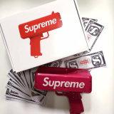 Es Regen-Geld-Gewehr herstellen rote Spielzeug-Bargeld-Kanone-Geld-Gewehr für Partei-Feier-Büro-Haus