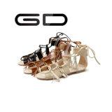 Sandali semplici delle ragazze degli ultimi sandali piani di disegno di Gdshoe