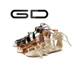 Gdshoe最新のデザイン平らなサンダルの簡単な女の子のサンダル