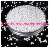 Granules blancs en plastique de boulette de Masterbatch TPR