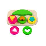 Brinquedo de madeira do classificador do enigma do bloco da forma para miúdos e crianças