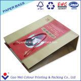 Achats polychromes de Recyled empaquetant le sac au détail personnalisé de papier d'emballage