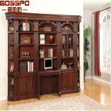 Bookcase американской конструкции типа твердой Mahogany деревянный (GSP18-012)