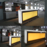 현대 작풍 바 가구 대리석 돌 다방 LED 다방 판매를 위한 상업적인 대중음식점 바 카운터