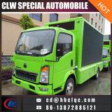 Caminhão móvel ao ar livre de pequeno tamanho LED veículo de publicidade móvel