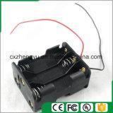 6AA de nuevo a sostenedor de batería posterior con los terminales de componente de alambre rojos/negros