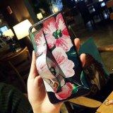 Weicher TPU Gleitschutzfall des Mädchen-Blumenmuster-mit Kickstand Halter
