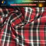 Tela teñida hilado rojo de moda para el Windbreaker, tela del poliester