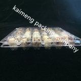 Design personalizado Bandejas de comida plástica de plástico transparente para o pacote de ovos de codorna (bandeja de comida de plástico)