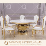 Hot Sale Marble Glass Golden Centerpieces Table de mariage