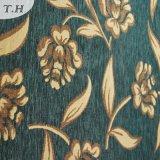 Tecido verde de jacquard dourado Chenille de alta qualidade (FTH31225)
