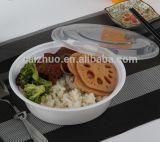Einfache runde Suppe-Filterglocke mit Plastikdeckel-Wegwerfschnellimbiss-Mittagessen-Filterglocke 1000ml