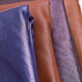 Выбитая кожа PU верхнего качества синтетическая для софы мебели