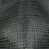 Couro 2017 do PVC do plutônio do crocodilo para a bolsa