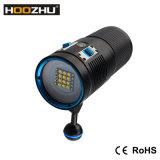 Lampe-torche maximum légère visuelle de la plongée légère 7200 LM Watrproof 100m DEL de couleur de Hoozhu V72 trois