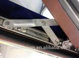 Guichet en aluminium de tissu pour rideaux d'ouverture extérieure glacé par double avec la glace Tempered