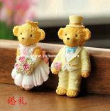 Aimant Wedding de réfrigérateur de résine de modèle d'ours pour la promotion (YH-RFM026)