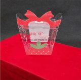 Casella piegante di plastica trasparente verde di stampa di imballaggio per alimenti