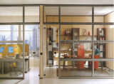 Популярная перегородка офиса с одиночным вариантом стекла и доски (SZ-WS686)