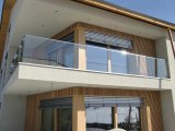 Wohnung/Commercial Glass Balustrade mit Aluminum U Based Channel