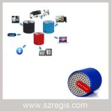 Mini haut-parleur sans fil cylindrique portatif coloré de Bluetooth