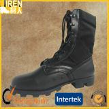 Черные ботинки джунглей армии ботинка безопасности неподдельной кожи