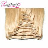 As várias cores vendem por atacado o grampo do brasileiro de Remy 100% no cabelo humano
