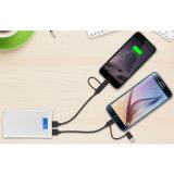 Kabel Synchronisierungs-2-in-1 und der Ladung mit Blitz und Mikro-USB