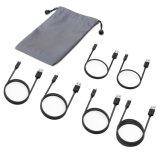 6 Satz Hochgeschwindigkeitssuper-Mikro USB-Kabel USB-2.0 für androide Einheit