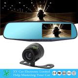 carro registrador dianteiro e traseiro Xy-9064 de DVR do espelho 4.3inch da câmera