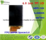 """étalage de TFT LCD de 4.0 """" 480X800 Mipi, Ili9806e, 25pin pour la position, sonnette, médicale"""
