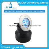 316stainless wasserdichtes Unterwasser-LED Pool-Stahllicht (runde Unterseite)