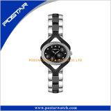 Le quartz de bande de l'acier inoxydable des femmes de Postar observe la montre-bracelet simple de Madame montre de type en Chine