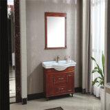 Vanité en céramique de salle de bains de Furinture de salle de bains fixée au sol de type chinois