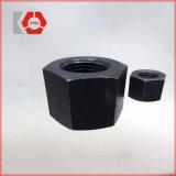 Noix de noir de l'hexagone DIN6915 avec grand Wideth à travers le plat