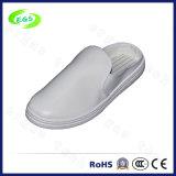 Sapatas de lona antiestáticas confortáveis da sala de limpeza do PVC ESD (EGS-PVC-604)