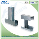Muro divisorio (soffitto) U galvanizzato e profilo d'acciaio del metallo C
