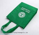 Bolso de compras no tejido del totalizador con insignia modificada para requisitos particulares