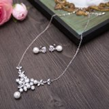 Wedding Bridal серебряное ожерелье Rhinestone перлы Jewellery