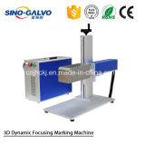 Машина маркировки лазера волокна 3D горячего сбывания динамическая с ценой головки Galvo