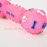 Juguete del animal doméstico del juguete del vinilo del perro de la dimensión de una variable de la pesa de gimnasia del modelo de la huella