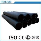 Wasserversorgung-Schwarz-Farbe 75mm HDPE Rohr und Befestigung