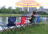 Faltender Freizeit-Garten-Stuhl mit Becher-Halter-u. Armlehnen-faltendem kampierendem Stuhl
