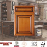 Weiße Farbanstrich-festes Holz-Küche-Schranktüren (GSP5-013)