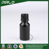 bottiglia di vetro nera dell'olio essenziale 15ml con la protezione nera