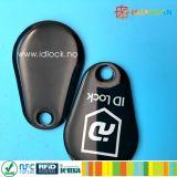 Keyfobs epoxy espertos de Keychain Tk4100 Em4200 RFID do silicone impermeável da impressão de laser