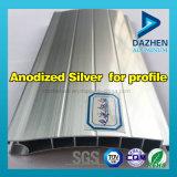 Profil en aluminium d'extrusion avec la couleur personnalisée pour l'enduit de poudre anodisé par profil