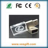 De Aandrijving van de Flits van de Gift USB van de Premie van het kristal/van het Glas in de Doos van het Tin