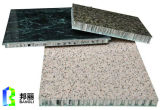 Qualité en aluminium enduite de panneau de nid d'abeilles des graines en pierre pour la construction Using le panneau de mur